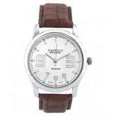 Deals, Discounts & Offers on Men - Laurels Original LO-VET-202 Brown Leather Analog Watch