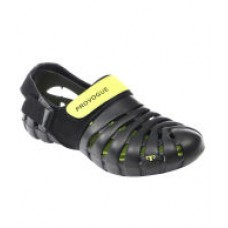 Deals, Discounts & Offers on Foot Wear - Provogue Black Clog Shoes
