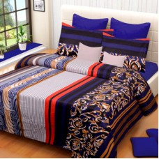 Deals, Discounts & Offers on Home Decor & Festive Needs - IWS Cotton Printed Double Bedsheet