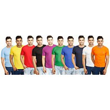 Deals, Discounts & Offers on Men Clothing - Eprilla Combo Of 10 Round Neck T-Shirts