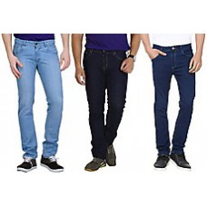 Deals, Discounts & Offers on Men Clothing - Stylox Combo Of 3 Plain Men Jeans