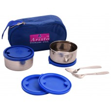 Deals, Discounts & Offers on Home & Kitchen - Aristo 250 ml Lunch pack with Blue Insulated bag