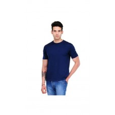 Deals, Discounts & Offers on Men Clothing - Scott International Navy Cotton Regualr Fit T Shirt