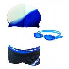 Deals, Discounts & Offers on Sports - Bodyfit Imported Swimming Goggles , Swim Cap , Swim Costume Set