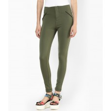 Deals, Discounts & Offers on Women Clothing - Flat 60% off on Green Jeggings
