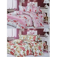 Deals, Discounts & Offers on Home Decor & Festive Needs - Combo of 2 Double Bedsheets @ Rs.569.