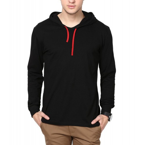 Inkovy men 39 s hooded full sleeve cotton t shirt at 70 for Full sleeves t shirts for men