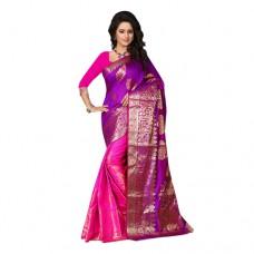 Craftsvilla Offers and Deals Online - Flat 73% off on Purple Banarasi Silk Jacquard Saree