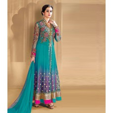 Craftsvilla Offers and Deals Online - Flat 65% off on Jsn Sky Blue Georgette Semi-stitched Anarkali Suits
