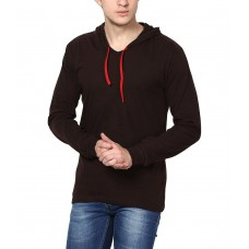 Deals, Discounts & Offers on Men Clothing - INKOVY Men's Hooded Full Sleeve Cotton T-Shirt
