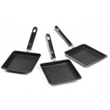 Deals, Discounts & Offers on Home & Kitchen - Sumeet Aluminium 6 inch Nonstick Mini Grill Pan Set of 3 at Flat 41% Off
