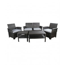 Deals, Discounts & Offers on Furniture - 4 Seater Outdoor Set in Black