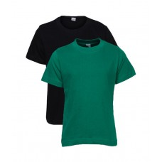 Deals, Discounts & Offers on Baby & Kids - Goodway Pack of 2 Black & Green Color Basic T-Shirts For Kids