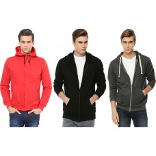 Deals, Discounts & Offers on Men Clothing - Wrab Combo Of 3 Hoodie at 65% off + 30% off + Extra 10% Cashback
