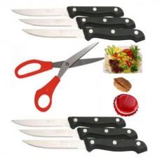 Deals, Discounts & Offers on Home & Kitchen - Steel Multipurpose Scissors & 6 Pc Steak Knife Set at 82% off