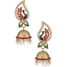 Deals, Discounts & Offers on Women - Voylla Artificial Classic Plain Crystal Alloy Jhumki Earring