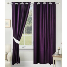 Deals, Discounts & Offers on Home Decor & Festive Needs - Azaani Solid Purple Polyester Door Curtain