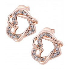 Deals, Discounts & Offers on Earings and Necklace - Kaizer Jewelry Trendy & Chic Heart 18 Karat Rose Gold Plated Earring