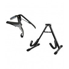 Deals, Discounts & Offers on Accessories - Flat 71% off on SPL Combo of Guitar Stand & Capo