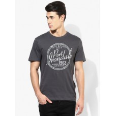 Deals, Discounts & Offers on Men Clothing - Flat 60% off on Tom Tailor Grey Round Neck T-Shirt