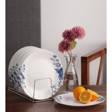 Deals, Discounts & Offers on Home & Kitchen - Flat 18% off on Corelle India Impressions Royale Vitrelle Glass Plate - Set of 6