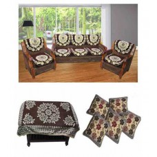 Deals, Discounts & Offers on Home Appliances - JBG Home Store Floral Poly Cotton Sofa Cover Set - Set of 16