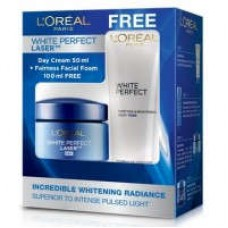 Deals, Discounts & Offers on Health & Personal Care - L'Oreal Paris White Perfect Laser Day Cream + Free White Perfect Facial Milky Foam