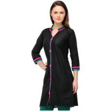 Deals, Discounts & Offers on Women Clothing - Cenizas Casual Solid Women's Kurti offer