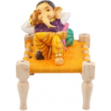 Deals, Discounts & Offers on Home Decor & Festive Needs - Jaipur Crafts Lord Ganesha On Rajasthani Bed Showpiece