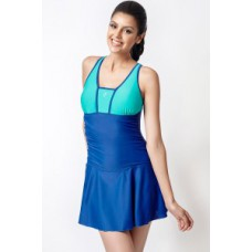 Deals, Discounts & Offers on Women Clothing - Penny Aqua Ruched Front Swimdress With Removable Cups