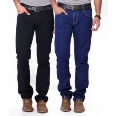 Deals, Discounts & Offers on Men Clothing - Flat 76% off on 1 Black,1 Dark Blue Jeans