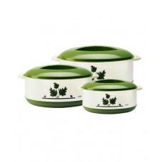 Deals, Discounts & Offers on Home Appliances - Milton Orchid Casseroles Green - Set of 3