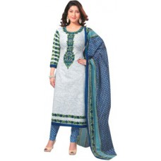 Deals, Discounts & Offers on Women Clothing - Shree Ganesh Cotton Printed Salwar Suit Dupatta Material
