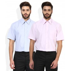 Deals, Discounts & Offers on Men Clothing - John Players Pack Of 2 Formal Shirts