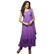 Deals, Discounts & Offers on Women Clothing - Lavi's Women's  Brasso Net Anarkali