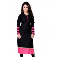 Deals, Discounts & Offers on Women Clothing - Zoom Creation Black Cotton Kurti offer