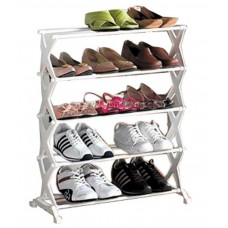 Deals, Discounts & Offers on Accessories - Foldable Stainless Steel Shoe Rack With 5 Tier at Lowest Online