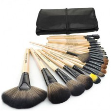 Deals, Discounts & Offers on Women - Puna Store 24 Piece Makeup Brush Set with Leather Bag