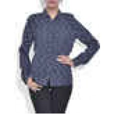Deals, Discounts & Offers on Women Clothing - Navy blue polyester printed top offer