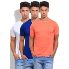 Deals, Discounts & Offers on Men Clothing - Pepe Jeans Solid Men's Round Neck T-Shirt