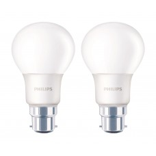 Deals, Discounts & Offers on Home Decor & Festive Needs - Philips B22 6-Watt LED Bulb pack of 2 offer