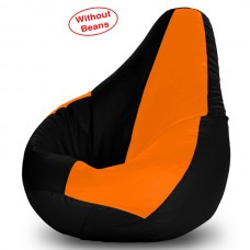 Deals, Discounts & Offers on Furniture - Dolphin Xl Bean Bag Cover in Black and Orange