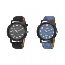 Deals, Discounts & Offers on Accessories - Multicolor Casual Watch - Combo Of 2