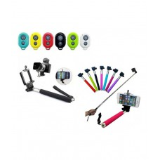 Deals, Discounts & Offers on Accessories - Pluto Plus Selfie Stick Wireless Mobile Phone Monopod