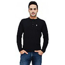 Deals, Discounts & Offers on Men Clothing - Cotton Full Sleeves Henley Men T-Shirt at Rs 299 only
