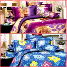 Deals, Discounts & Offers on Home Decor & Festive Needs - Soft And Comfortable Double Bed Sheet Set Of 2