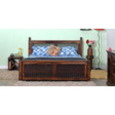 Deals, Discounts & Offers on Furniture - Stephen Queen Size Bed in Provincial Teak Finish by Amberville
