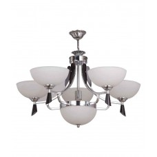 Deals, Discounts & Offers on Home Appliances - LeArc Designer Lighting Contemporary Glass Metal Wood Chandelier