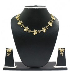Deals, Discounts & Offers on Earings and Necklace - Zaveri Pearls Beautiful Butterfly Alloy Jewel Set
