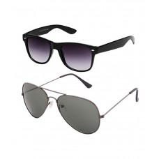 Deals, Discounts & Offers on Men - Gansta Dark Lens Wayferer & Aviator Sunglass Combo